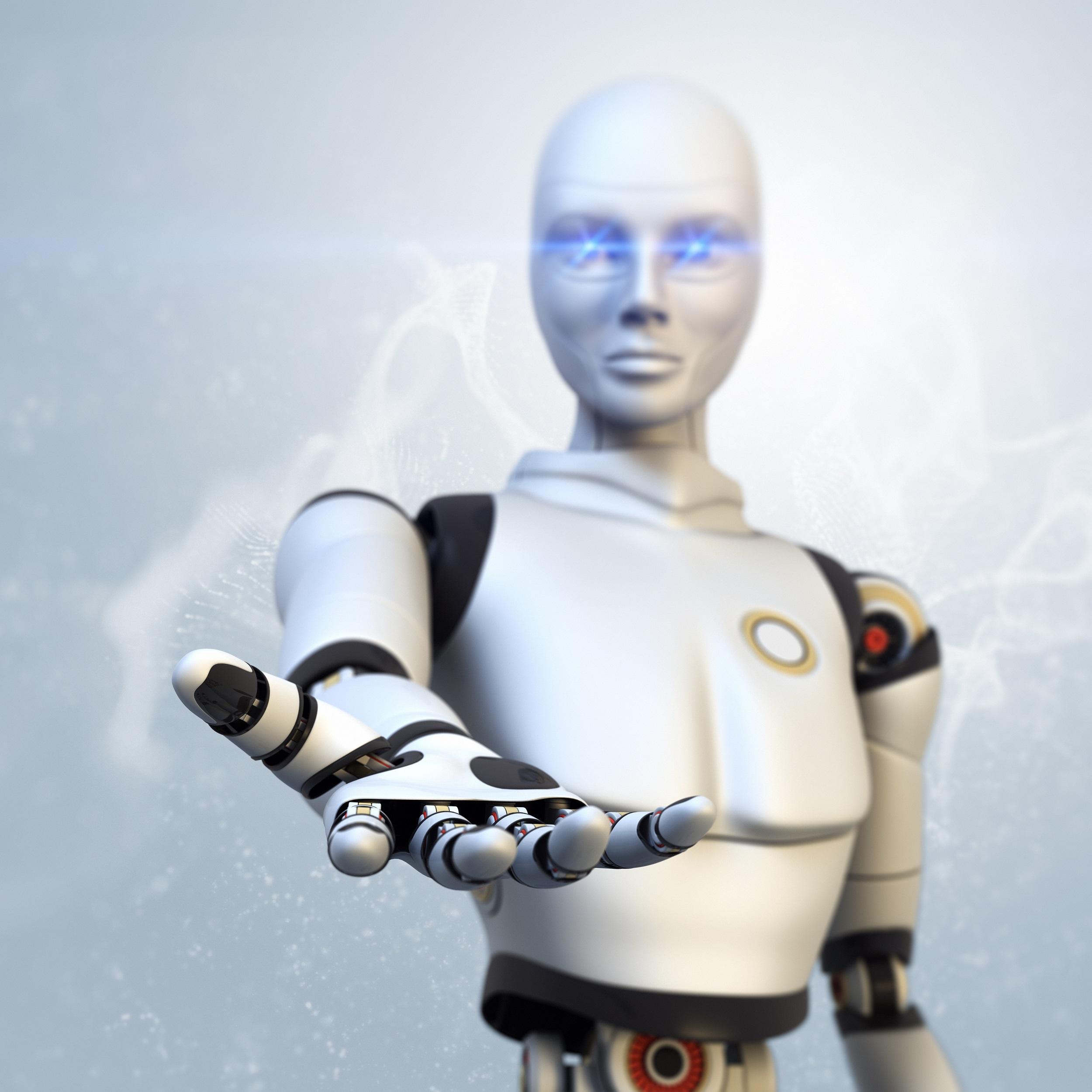 Robot giving his hand
